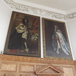 Flamsteed House - Royal Observatory Greenwich - Octagon Room - portraits of Charles II and James II