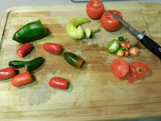 chopping Jalapeno Peppers