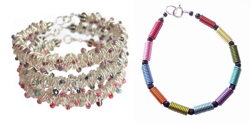 Sandy Mitchell - Scribblework Original, Rainbow Bracelet Black