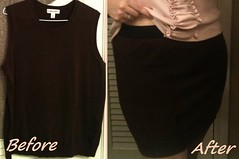 Knit Mini Skirt Before & After