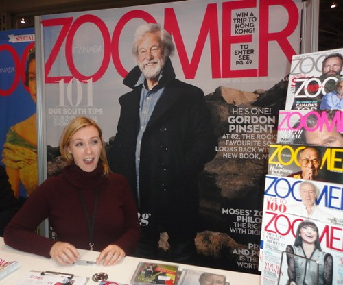 Zoomers magazine booth at the 2012 Zoomershow in Toronto