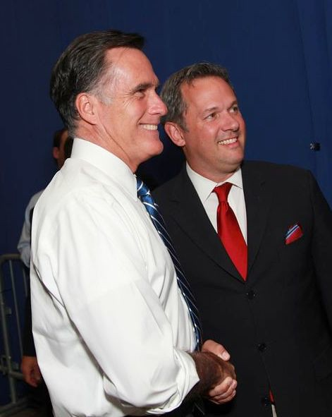 With Governor Romney in Asheville