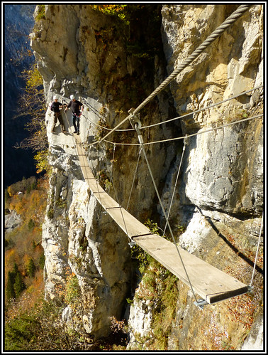 Autumn via ferrata is even more beautiful in Samoens