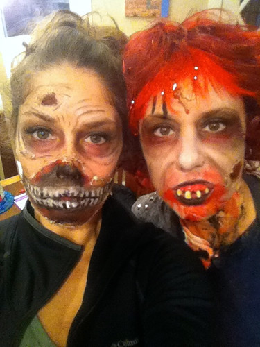 Kyra and Kim, zombies