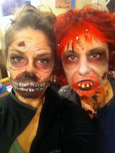 Kyra and Kim, zombies
