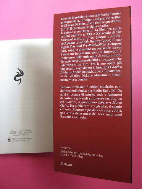 Lucinda Hawksley, Lizzie Siddal. Odoya 2012. [responsabilità grafica non indicata]. Risvolto della quarta di copertina (part.), 1