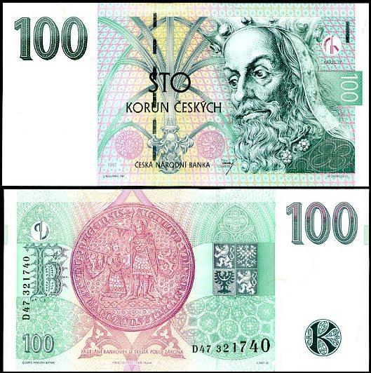 100 Korun Česká republika 1997, Pick 18