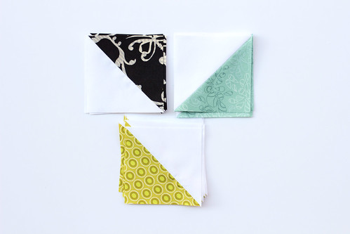 Half-Square Triangle Block of the Month November Quilt Block Tutorial - In Color Order