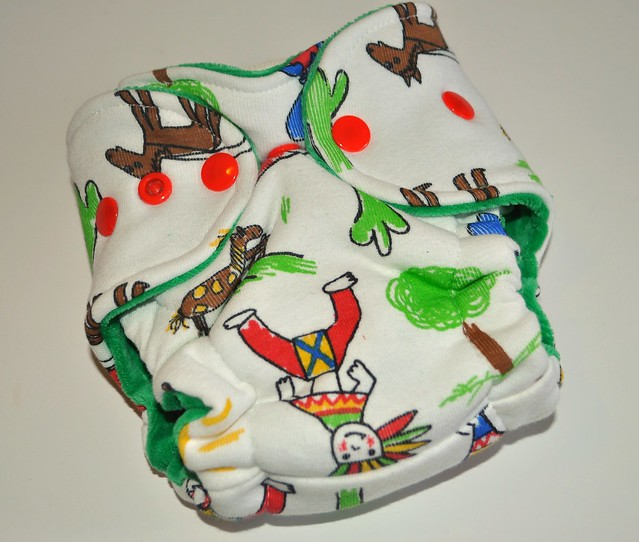 Bumstoppers Newborn Cowboys and Indians Hybrid Fitted **New Style**