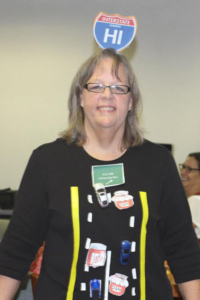 <p>Participant in the College of Education costume contest</p>