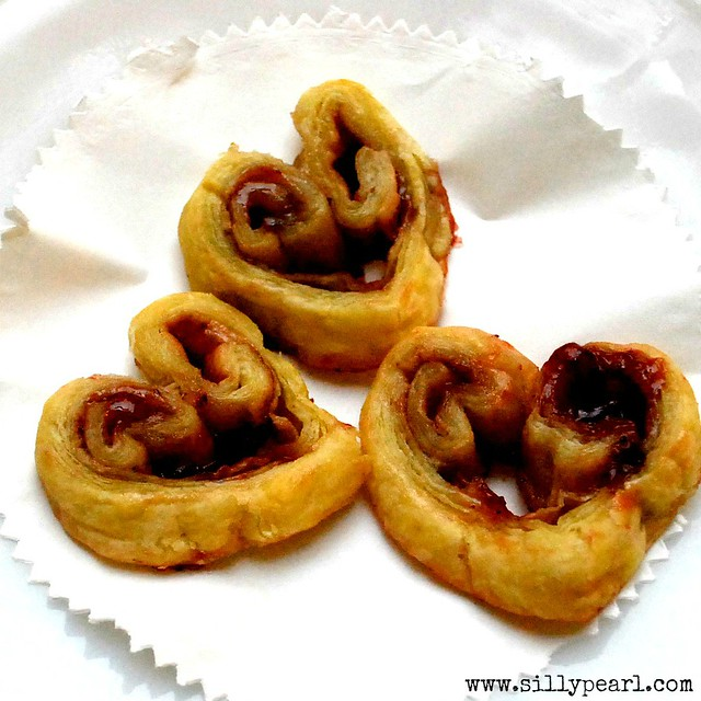 Strawberry Heart Palmier Cookies - Multiples in the Kitchen