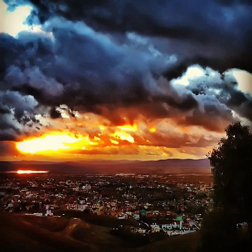 clouds sunrise square landscape paisaje amanecer squareformat nubes zacatecas meteor meteoro iphone4 instagram