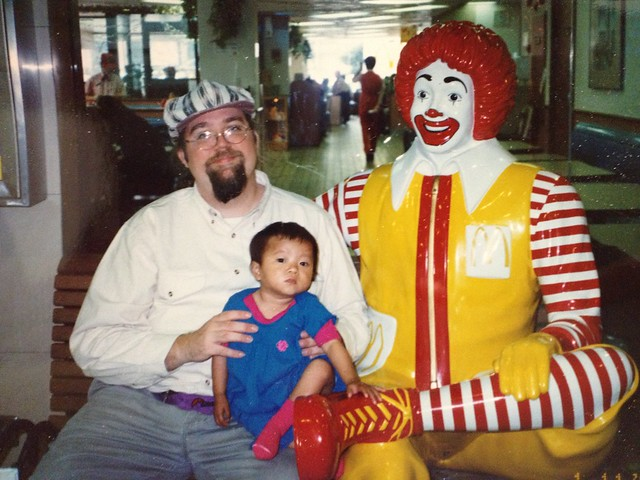 The Child with Ronald McDonald