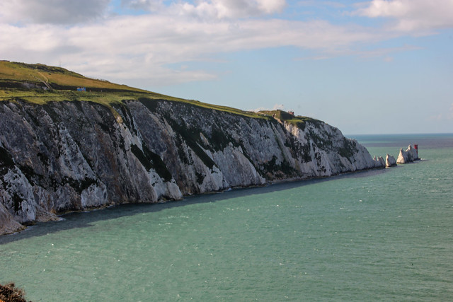 The Needles en la isla de Wight