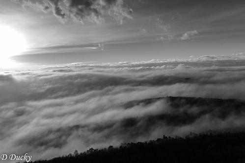sunset fog tubes naplemente pécs köd