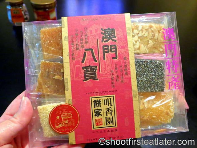 Choi Heong Yuen Bakery Macau- 8 flavors chewy bites