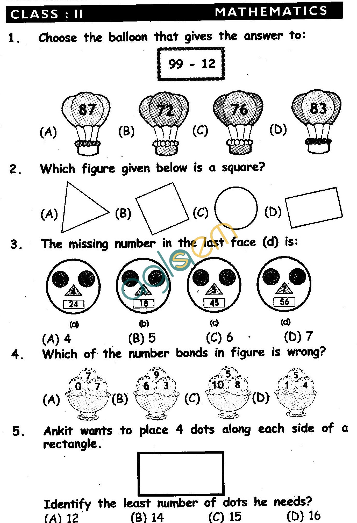 NSTSE 2011 Solved Question Paper For Class II ...