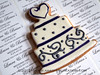 laura & brian's wedding cookie