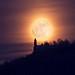 The mystic castle (Burg Teck rising Moon) by Natureinspiration.de