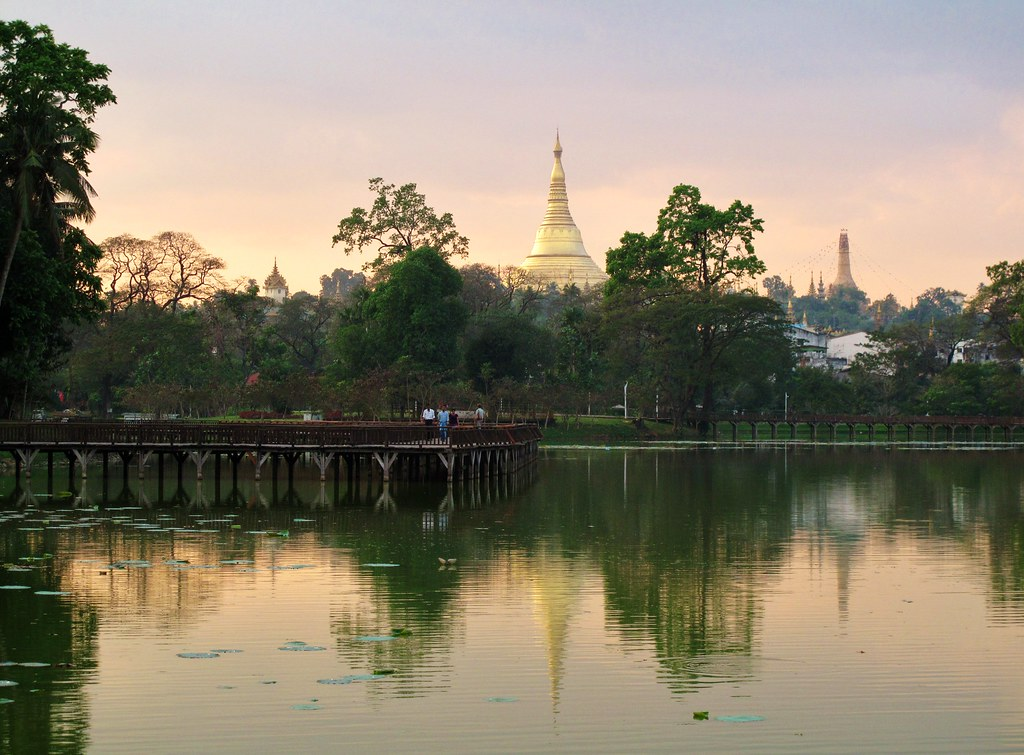 Schwedagon from the lake