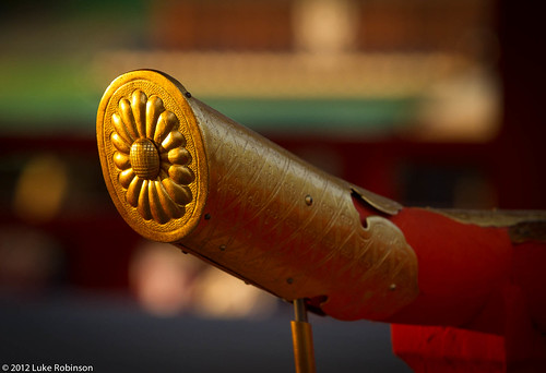 Golden railing detail, Fushimi Inari Shrine, Kyoto