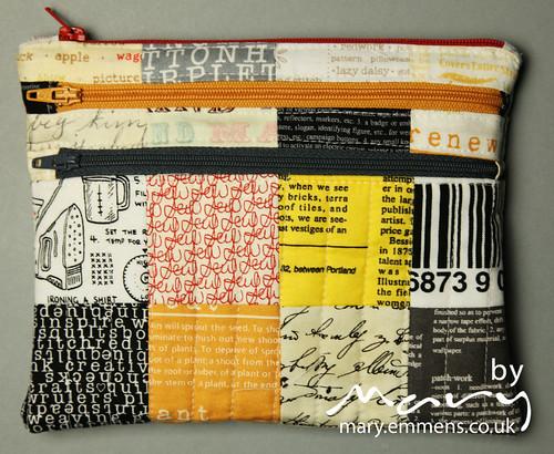 Triple zip pouch 1