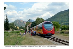 Digne. Train for Nice. 24.8.13