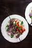 Pork Kebabs with Cauliflower Rice