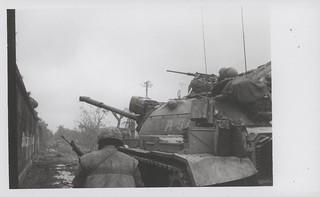 Marines Advance With Tank Inside Citadel, Hue City, 12 February 1968