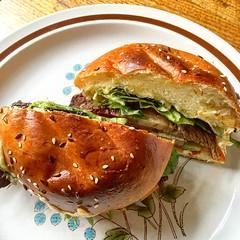 Brisket sandwich lunch at Little Bertie