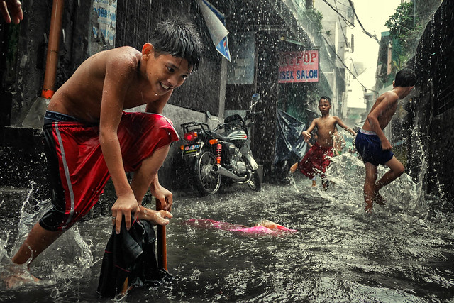 Manila, Philippines Who care if it flood?