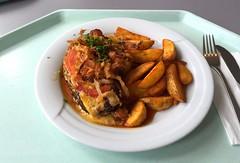 Salisbury steak, gratinated with tomato & baco…