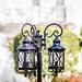 decorative classic lamp post in garden