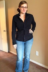 Belted Blouse Refashion - After