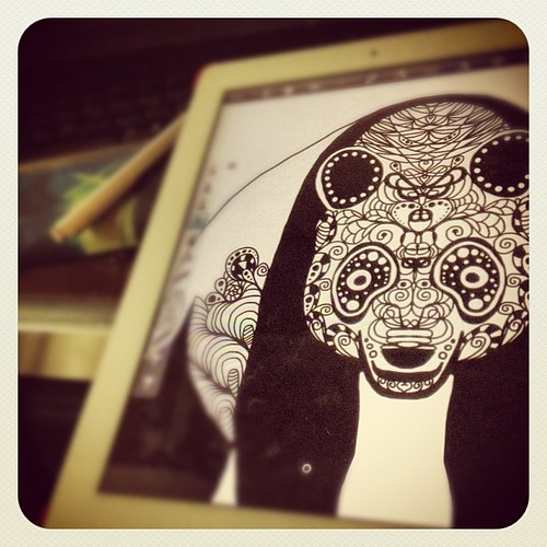 Working on my panda by designbyobrien