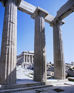 Parthenon as seen from the Temple Athena Nike