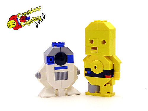 R2 and 3PO Charity Characters by Legohaulic