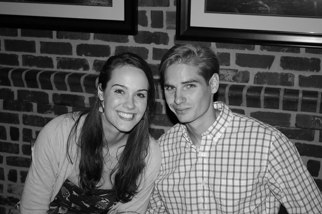 Kelsey and Alex at their rehearsal dinner