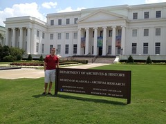 Drew McGehrin outside of the Alabama Department of Archives by LAUSatPSU