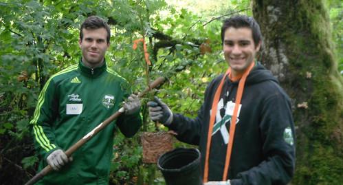 Timbers Defenders Ian Hogg & Chris Taylor