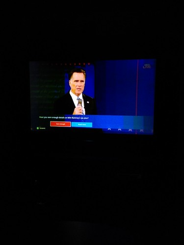 8:36pm watching the presidential debate by marshallhaas