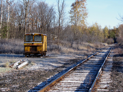 Speeder next to VRI rails 10-9-12