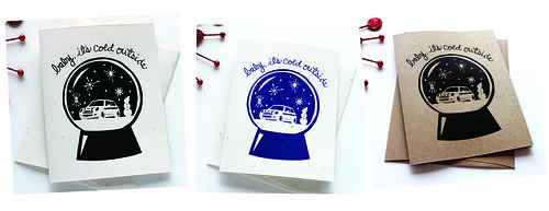 Mini Cooper Snowglobe Cards screenprint vitamini