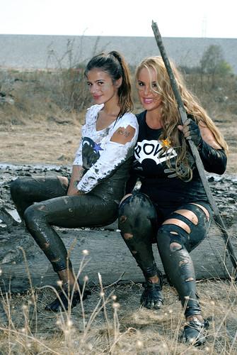 Supermodels Robin Arcuri & MJ Leon-That Dam Mud Run