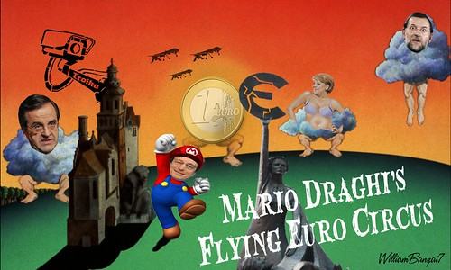 MARIO DRAGHI'S FLYING EURO CIRCUS by Colonel Flick