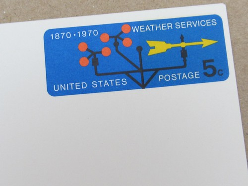 USPS Weather Service Postal Card