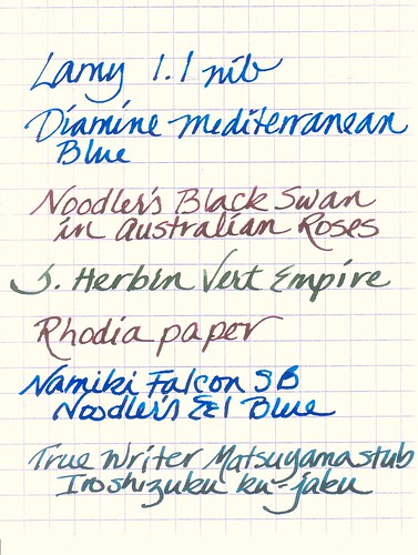 Wide Nib Fountain Pen Samples