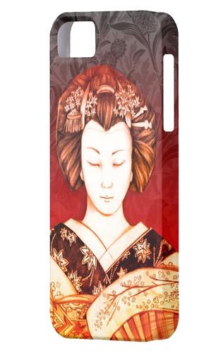IPhone 5 Funda Geisha Ojos cerrados 2