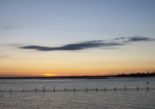 sunset cloud at Jersey shore