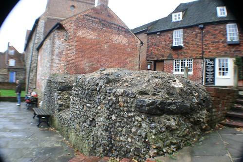 Roman Wall, Canterbury, England